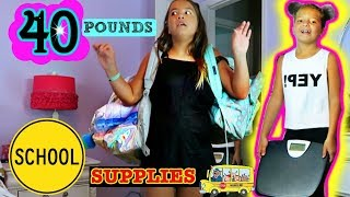 """40 POUNDS OF SCHOOL SUPPLIES """"BACK TO SCHOOL"""" ALISSON&EMILY"""