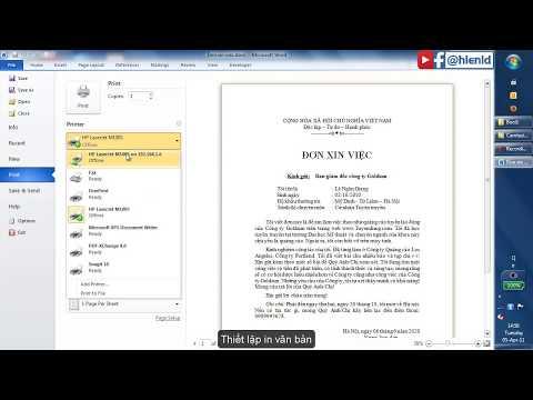 Ví dụ 1 - Tạo đơn xin việc với Microsoft Word 2010 - 2013 - 2016 | Foci