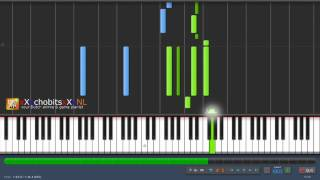 persona 3 - living with determination - synthesia tutorial - HD - sound: reason pianos