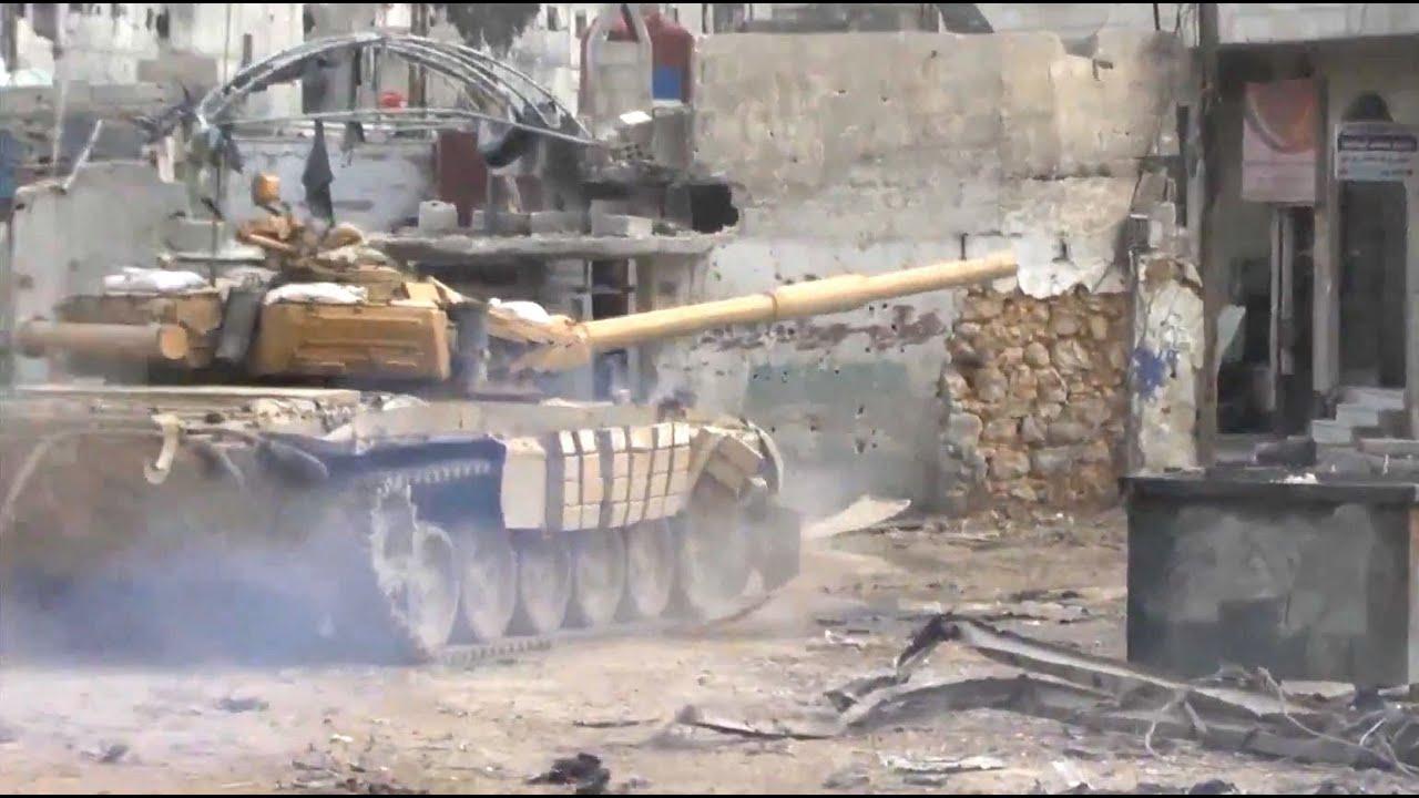 ᴴᴰ T 72 Tank With Gopro Get Hit In An Ambush In Darayya Syria Subtitles