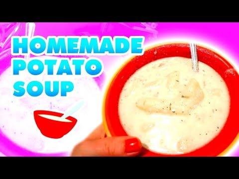 Homemade Potato Soup ~ Large Family Recipes! // Jamerrill Stewart