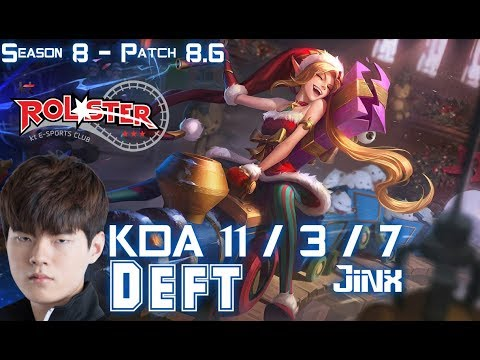 KT Deft JINX vs CAITLYN ADC  Patch 86 KR Ranked