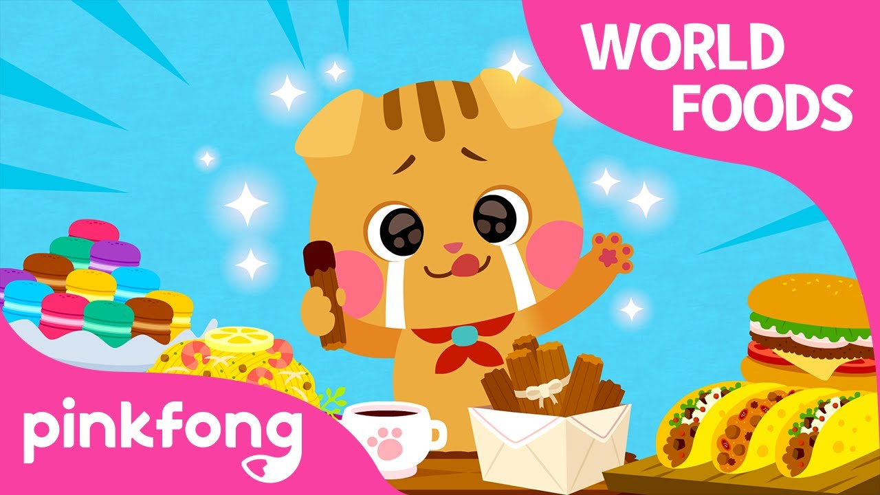 Yum Yum World Foods | The World Song | Cotomo Cats | Pinkfong Songs for Children
