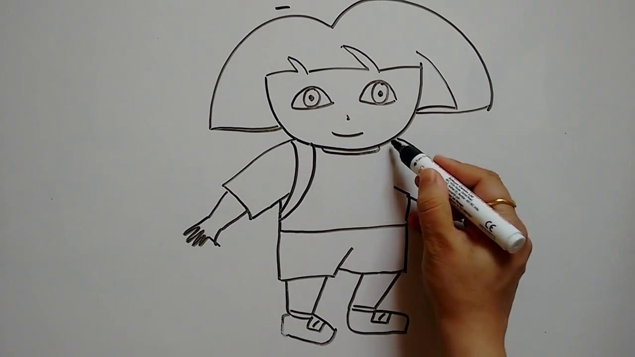 draw dora the explorer
