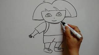 Draw Dora the explorer