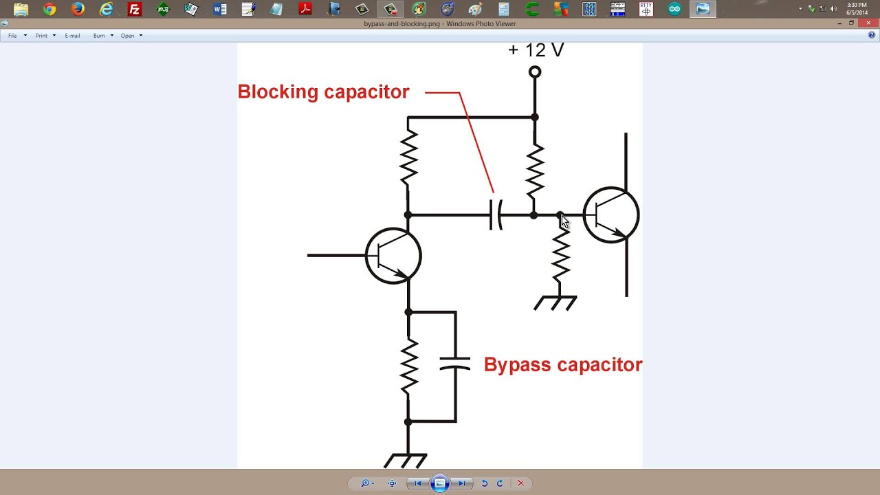 Blocking and Bypass Capacitors