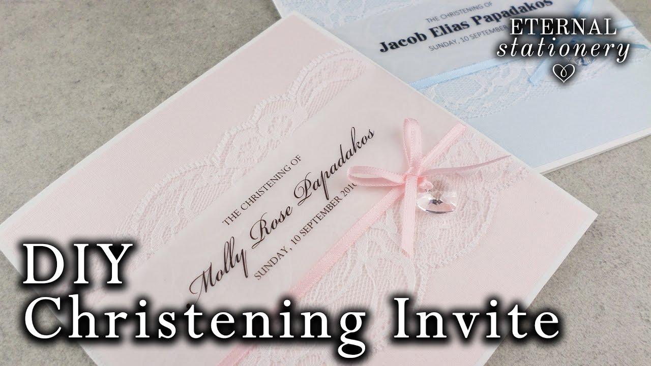 Christening Baptism Invitation Card