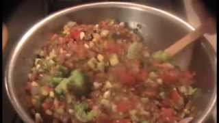 Wheat Berries With Grilled Vegetables And Pinto Beans