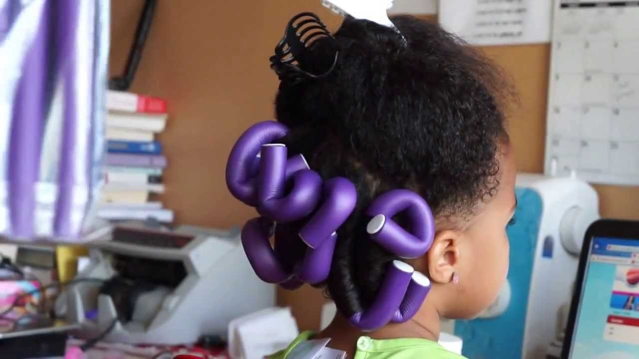 Flexi Rods For Kids Natural Hair Youtube