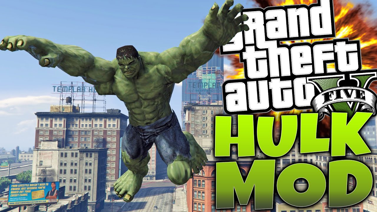 GTA 5 PC Mods - The Incredible Hulk Mod! Hulk Vs Abomination (GTA 5 Funny  Moments)