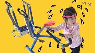 날씬한 몸매를 원하십니까?  서은이의 이천플레이즈키즈카페 방문  어린이 운동기구 헬스 다이어트 gym diet
