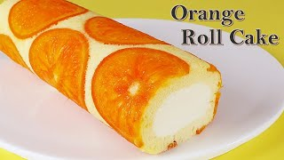 [Roll cake] How to make a perfect orange roll cake / Dojima roll cake recipe