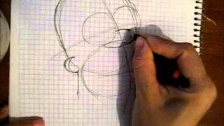 cómo dibujar a Homero Simpson