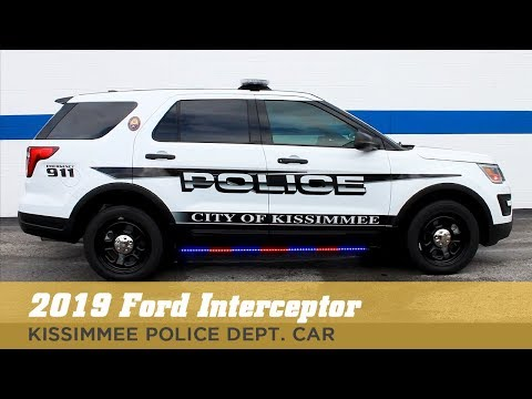 White Ford Interceptor Police Car 2019 - Kissimmee Police Department Car Upfitting