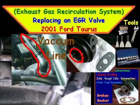 2013 Taurus V6 Engine Diagram Replacing An Egr Valve 2001 Ford Taurus Youtube