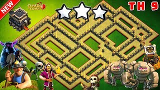 NEW TH9 War Base 2018 Anti Everything Anti 3 Star With Replay Anti Bowler Anti Miner PROOF!