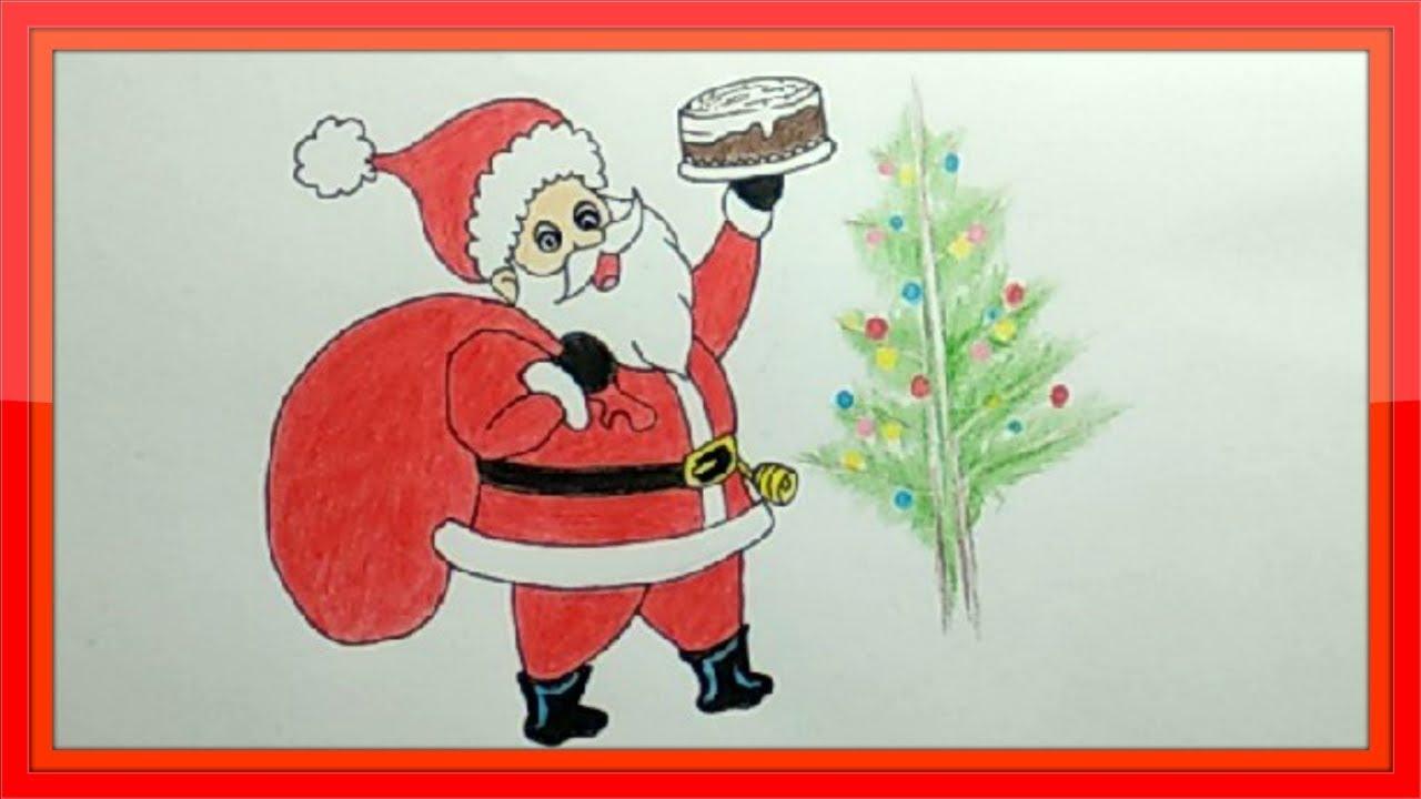 Draw Santa Claus With Christmas