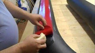 10. Как приклеить усиления из ПВХ ткани к баллонам надувной лодки(, 2016-06-15T11:36:44.000Z)