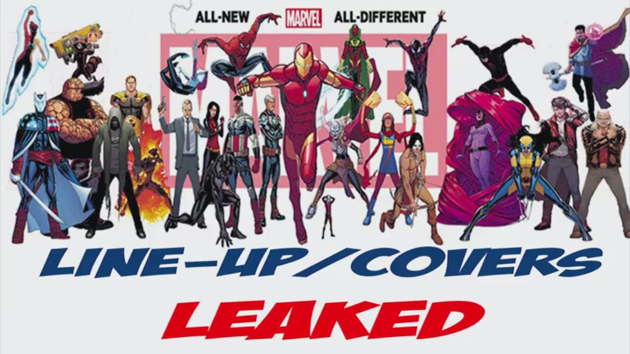 All new all different marvel comic universe line up and 1 New all hd video
