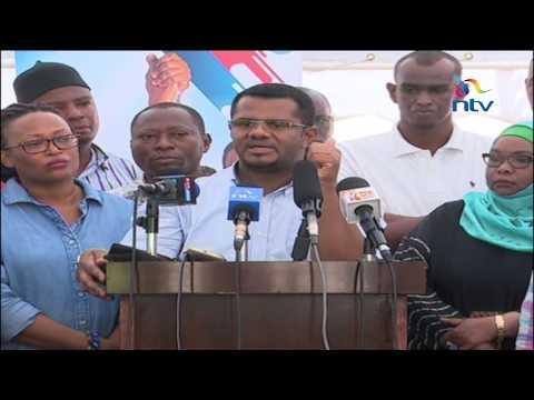 Mombasa Senator Hassan Omar accuses Governor Hassan Joho of sponsoring violence at Nasa Rally