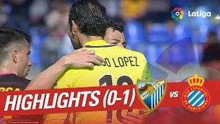 Resumen de Málaga CF vs RCD Espanyol (0-1)