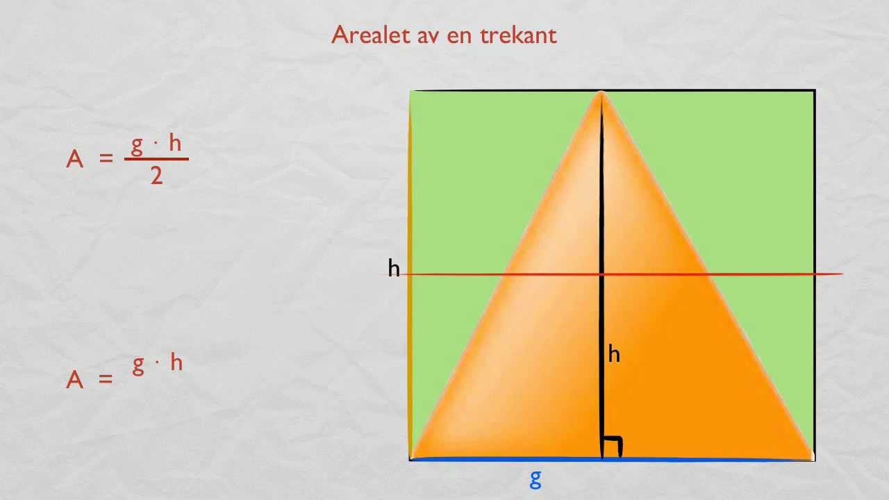 regne ut areal av trekant