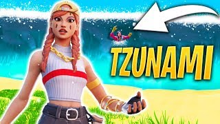 DISASTRI NATURALI SU FORTNITE! SCAPPIAMO DALLO TZUNAMI!!