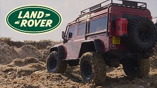 Land Rover Defender. Rock Crawling. Traxxas TRX4 1:10