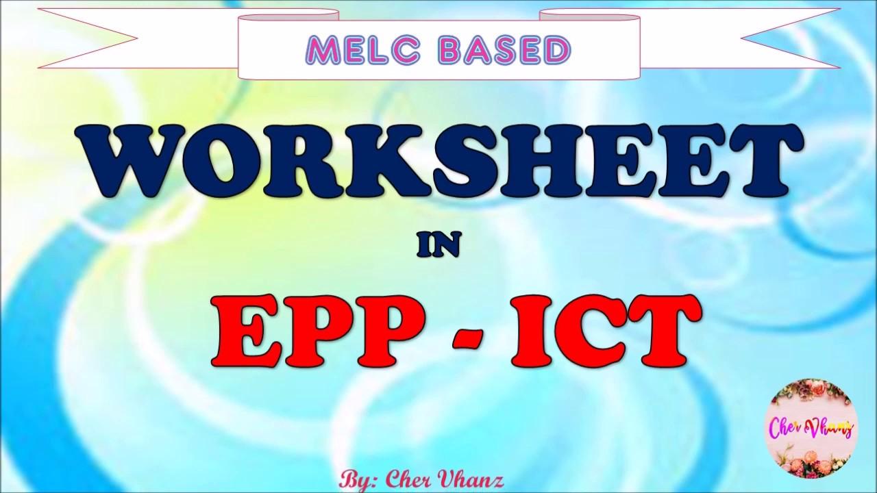 Worksheet in EPP 4 - ICT Aralin 6 (Quarter 1) - YouTube [ 720 x 1280 Pixel ]