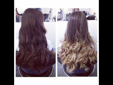Como Fazer Ombre Hair Com Mechas Studio Pamella Rocha Youtube