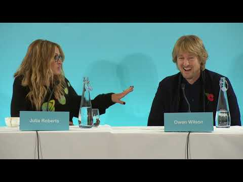 Wonder Global Press Conference with Julia Roberts and Owen Wilson  Social.XYZ