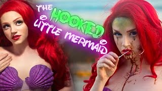 THE HOOKED LITTLE MERMAID (Ariel) Makeup Tutorial - Glam & Gore Disney Princess