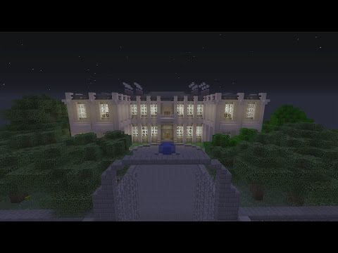 Minecraft Gotham City: Wayne Manor and Batcave