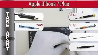 How to disassemble 📱 🍎 Apple iPhone 7 Plus A1661, A1784, A1785 Take apart Tutorial