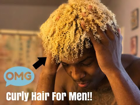 HOW TO GET NATURALLY CURLY HAIR! (EASY MEN'S TUTORIAL) Part 1