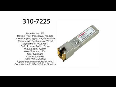 Compatible with Dell 1000Base-T SFP RJ45 100m 310-7225