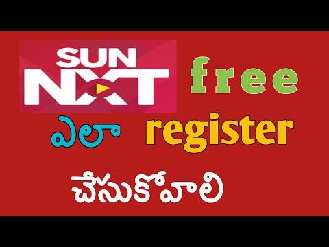 how to register sun nxt free telugu