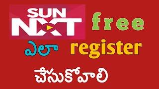 how to register sun nxt telugu