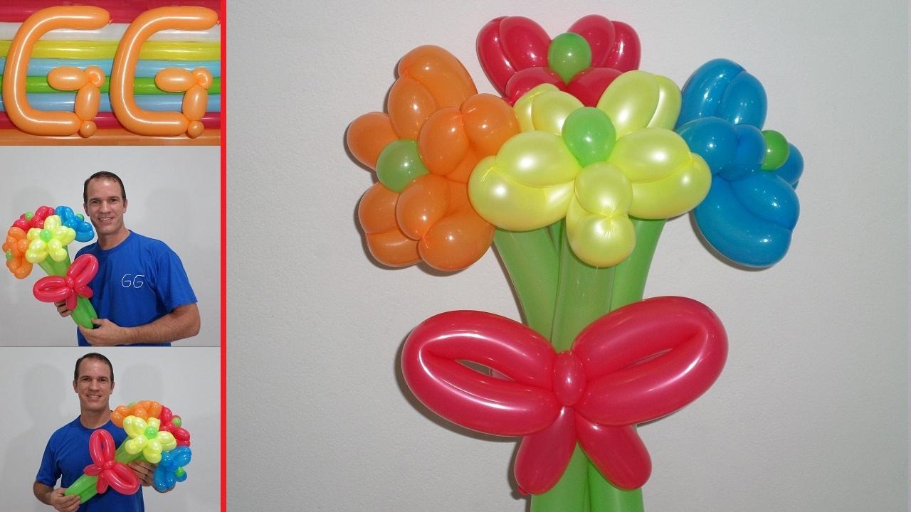 Como Hacer Flores Con Globos Paso A Paso Globoflexia Facil Ramo