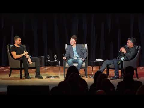 Bruce Croxon with Dean Elkholy & Taylor Ablitt at #SMWTO