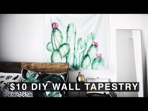 DIY Wall Tapestry for $10!!! (Urban Outfitters Inspired)