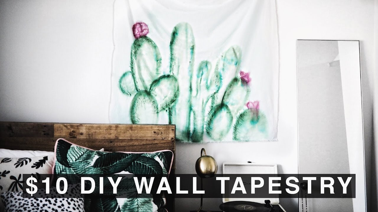 DIY Wall Tapestry for 10 Urban Outfitters Inspired