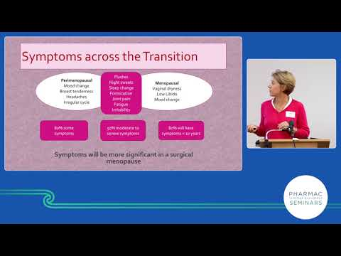 PHARMAC seminar: Women's health 2019, 5a of 6, menopause and menopausal hormone therapy