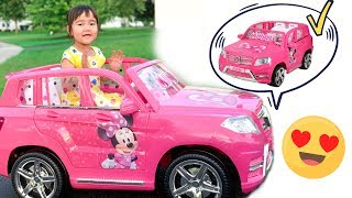 Parents give huge Minnie mouse toy car to Semra