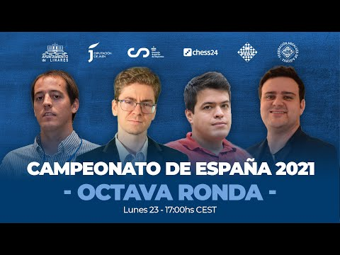 CAMPEONATO DE ESPAÑA | Penúltima Ronda | Paco Vallejo, Jaime Santos, Miguel Santos lideres de torneo