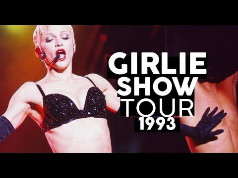 Boicote Sexo no palco e Primeira vez no Brasil  GIRLIE SHOW TOUR 1993 Shows da Madonna
