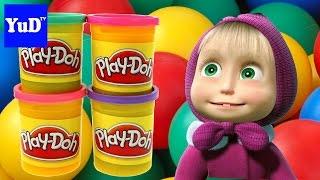 ✭ Masha I Medved PlayDoh Surprise Eggs Unboxing ✭ Маша и Медведь открываем киндер яйца PlayDoh