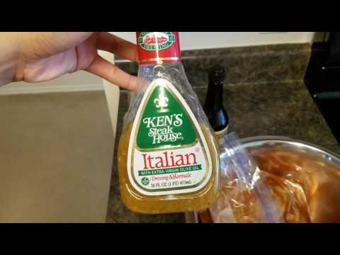 How to make baked chicken legs with italian dressing