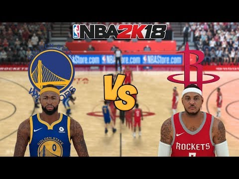 NBA 2K18 - Golden State Warriors Vs. Houston Rockets - Full Gameplay (Updated Rosters)