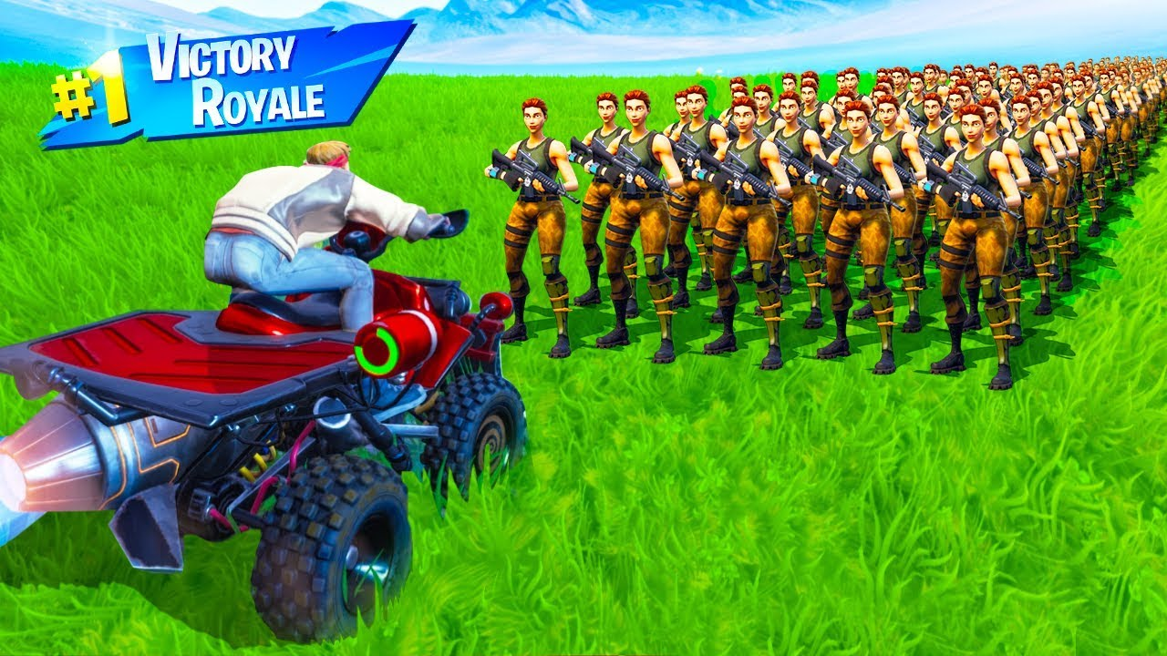 CAN 1,000 BOTS STOP a VEHICLE in Fortnite Battle Royale ...